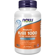NOW Foods - Neptune Krill 1000 Double Strength 1000 mg. - 60 Softgels