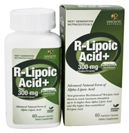 Genceutic Naturals - Bio-Enhanced Natural R-Lipoic Acid 300 mg. - 60 Vegetarian Capsules