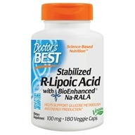 Doctor's Best (好医生) - Stabilized R-Lipoic Acid with BioEnhanced Na-RALA 100 mg. - 180 Vegetarian Capsules