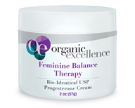 Feminine Balance Therapy Bio-Identical Progesterone Cream Fragrance-Free - 2 oz. by Organic Excellence (有机卓越)