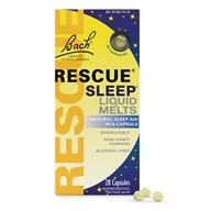 Rescue Remedy Sleep Liquid Melts Natural Sleep Aid - 28 Capsules by Bach