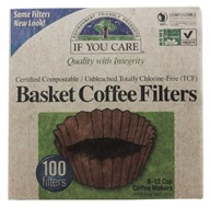 Coffee Filters 8 inch Basket Unbleached Totally Chlorine-Free (TCF) - 100 Filter(s) by If You Care