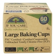 Large Baking Cups Unbleached Totally Chlorine-Free (TCF) - 60 Cup(s) by If You Care
