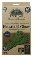 Household Gloves Latex Cotton Flock Lined 1 Pair - Medium by If You Care