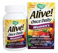 Alive Once Daily Women's Multi-Vitamin & Whole Food Energizer Ultra Potency - 60 Tablets by Nature's Way (佳思敏)