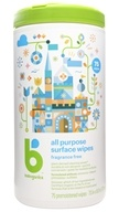 All Purpose Surface Wipes Fragrance Free - 75 Wipe(s) by BabyGanics (甘尼克宝贝)