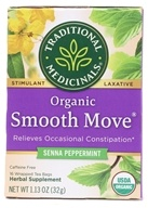 Traditional Medicinals - Organic Smooth Move Peppermint Herbal Tea Peppermint - 16 Tea Bags
