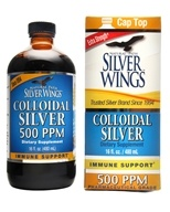 胶质银 500 Ppm-16 fl. oz. by Natural Path Silver Wings