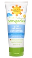 Sunscreen Mineral Based Broad Spectrum 50 SPF - 6 fl. oz. by BabyGanics (甘尼克宝贝)