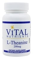 Vital Nutrients - L-Theanine 200 mg。 - 60 素食胶囊