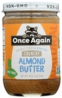 Natural Crunchy Almond Butter Unsweetened & Roasted - 16 oz. by Once Again