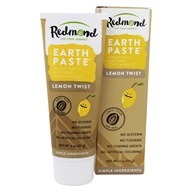 Earthpaste Amazingly Natural Toothpaste Lemon Twist - 4 oz. by Redmond Trading (雷德蒙贸易公司)