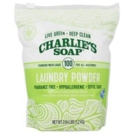 Laundry Powder 100 Standard Wash Loads Fragrance Free - 2.64 lbs. by Charlie's Soap