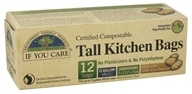 Certified Compostable Tall Kitchen Bags - 12 Bags by If You Care