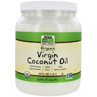 NOW Real Food Organic Virgin Coconut Oil Cold Pressed & Unrefined - 54 fl. oz. by NOW Foods