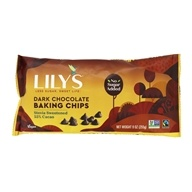 Dark Chocolate Baking Chips 55% Cocoa Dark Chocolate - 9 oz. by Lily's