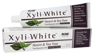 XyliWhite Toothpaste Gel Fluoride-Free Neem & Tea Tree Mint Flavor - 6.4 oz. by NOW Foods