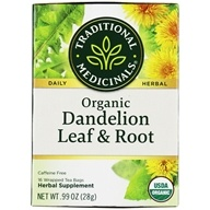 Organic Dandelion Leaf & Root Herbal Tea - 16 Tea Bags by Traditional Medicinals
