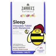 Zarbee's - Children's Sleep With Melatonin Natural Grape - 30 Chewable Tablets