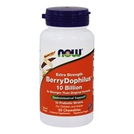 Extra Strength BerryDophilus 10 Billion - 50 Chewable Tablets by NOW Foods