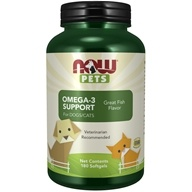 NOW Pets Omega-3 Support For Dogs/Cats - 180 Softgels by NOW Foods