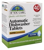 Automatic Dishwasher Tablets Free and Clear - 18.3 oz. by If You Care