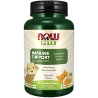 NOW Pets Immune Support For Dogs/Cats - 90 Chewable Tablets by NOW Foods