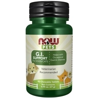 NOW Pets G.I. Support for Dogs/Cats - 90 Chewable Tablets by NOW Foods