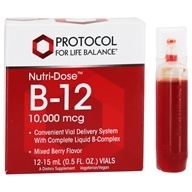 Nutri-Dose Vitamin B12 Mixed Berry 10000 mcg. - 12 Vial(s) by Protocol For Life Balance