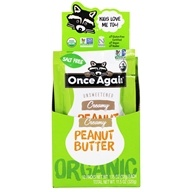 Organic Peanut Butter Creamy Unsweetened - 10 Pack(s) by Once Again