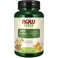 Pet Allergy - 75 Chewable Tablets by NOW Foods