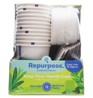 Plant Based Insulated Hot Cups and Lids - 12 Piece(s) by Repurpose