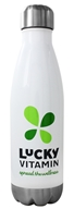 Insulated Vacuum Stainless Steel Water Bottle White - 17 oz. by LuckyVitamin Gear