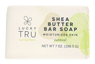 Shea Butter French Milled Bar Soap Oatmeal - 7 oz. by LuckyTru