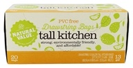 Tall Kitchen 13 Gallon Drawstring Plastic Bags - 20 Bags by Natural Value