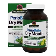 PerioBrite Dry Mouth Lemon Lime Mint Flavored - 100 Lozenges by Nature's Answer (自然之源)