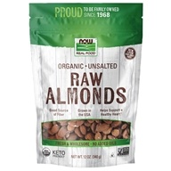 NOW Real Food Organic Raw Almonds Unsalted - 12 oz. by NOW Foods