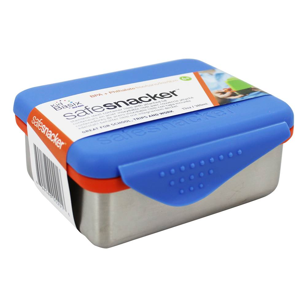 Kid Basix Safe Snacker Stainless Steel Lunchbox Container Blue - 13 oz. by New Wave Enviro Products
