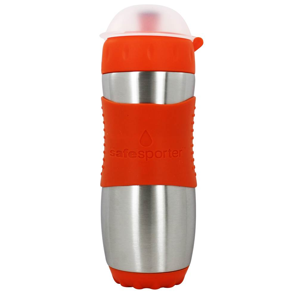 Kid Basix Stainless Steel Safe Sporter Water Bottle Orange - 16 oz. by New Wave Enviro Products