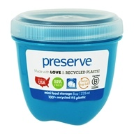 再生塑料迷你食品储存容器海蓝宝石-8 oz. by Preserve