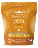 Laundry Detergent Packs 3 In 1 Cleaning Power 42 Loads Ginger Mango - 42 Count by Method