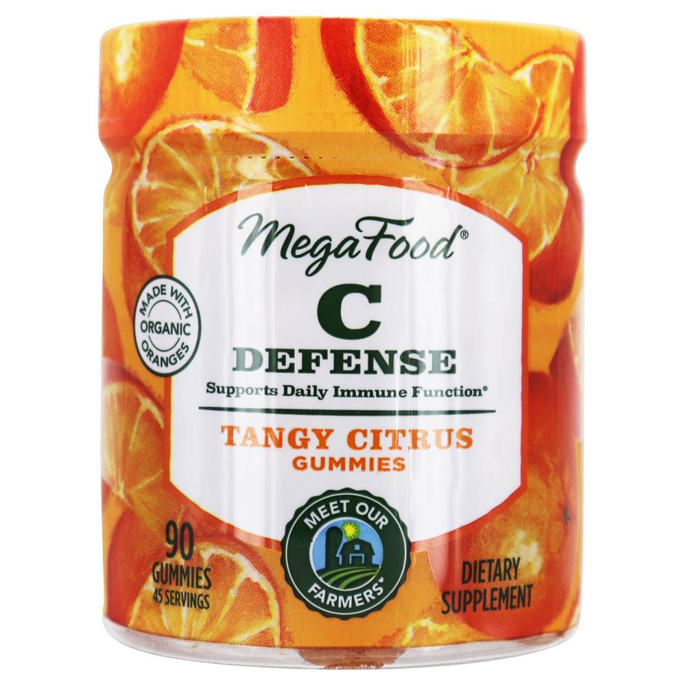 Vitamin C Defense Daily Immune Function Support Tangy Citrus - 90 Gummies by MegaFood