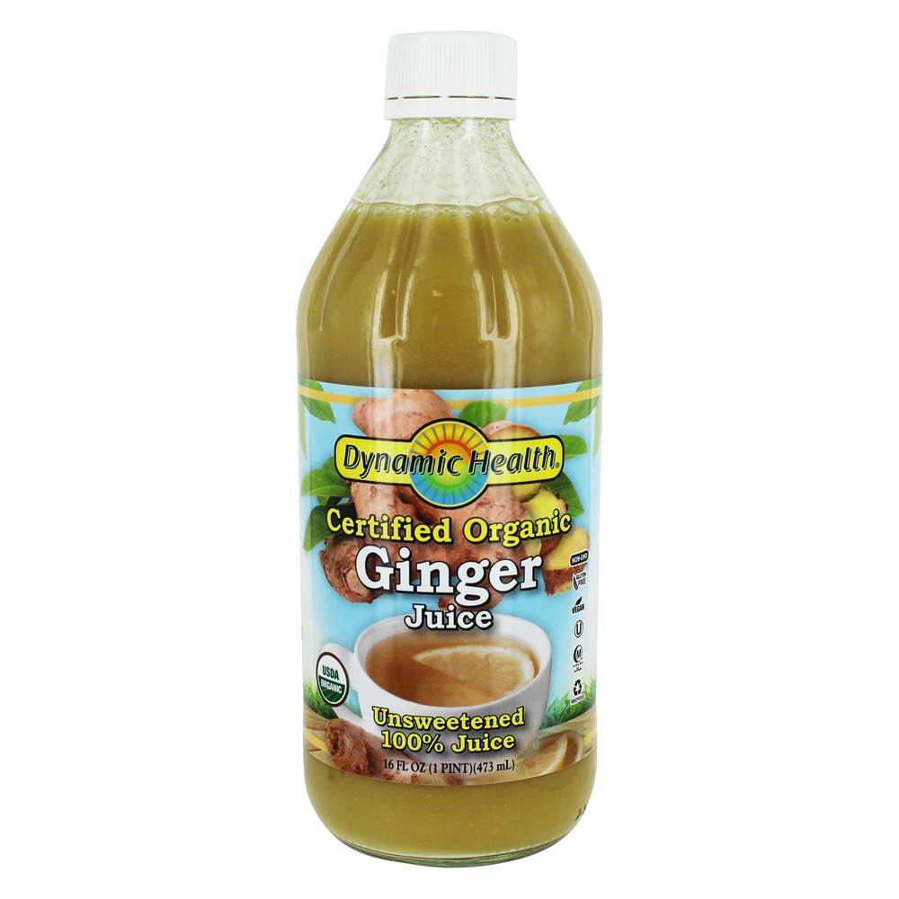 Certified Organic Ginger 100% Juice Unsweetened - 16 fl. oz. by Dynamic Health