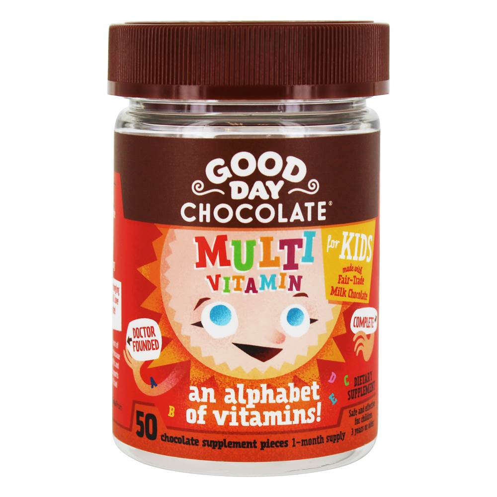 Multivitamin for Kids Chocolate Supplement - 50 Piece(s) by Good Day Chocolate