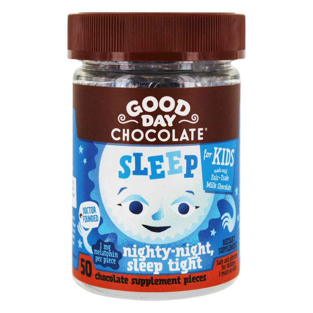 Sleep for Kids Chocolate Supplement - 50 Piece(s) by Good Day Chocolate