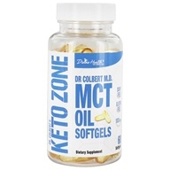 Colbert博士的Keto Zone MCT Oil Softgels 1000 mg 。60 Softgels by Divine Health