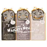 3 Step Charcoal Blackhead Remover Naughty Nose-3 Strip(s) by The Creme Shop