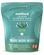 Laundry Detergent Packs 3-In-1 Cleaning Power 42 Loads Beach Sage - 42 Pack by Method