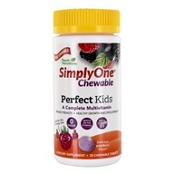 Simply One Chewable完美的孩子完成多种维生素野生莓果-30 Chewable Tablets by Super Nutrition