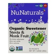有机甜叶菊和Monkfruit甜味剂-35 Packet(s) by NuNaturals